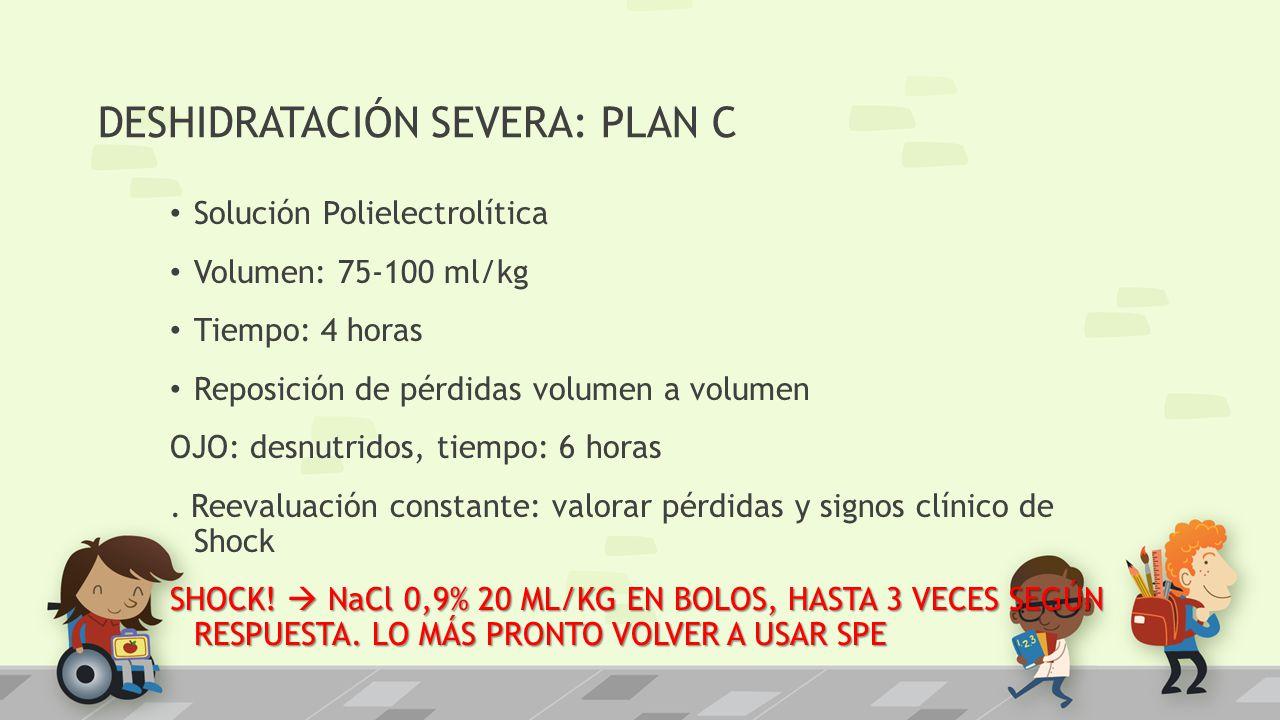 DESHIDRATACIÓN SEVERA: PLAN C