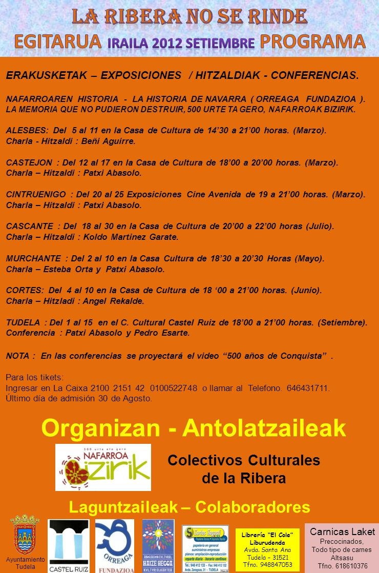 Egitarua Iraila 2012 setiembre programa