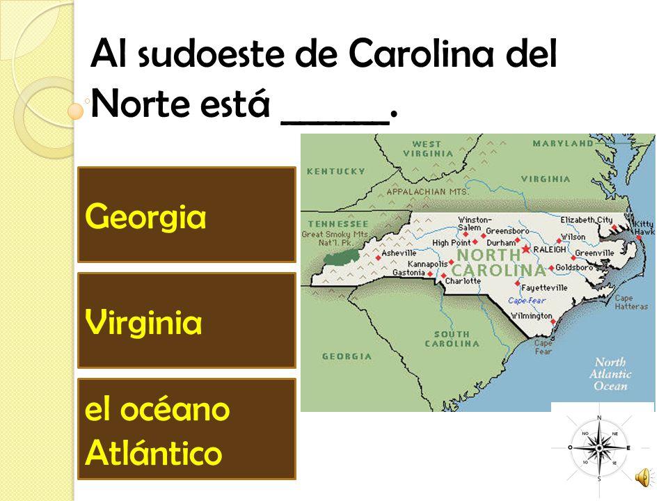 Al sudoeste de Carolina del Norte está ______.