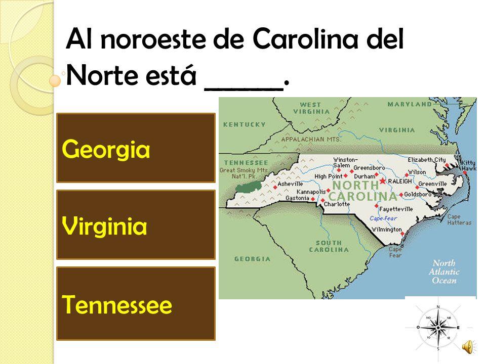 Al noroeste de Carolina del Norte está ______.