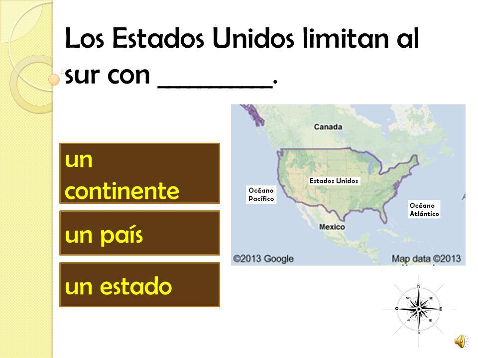 Los Estados Unidos limitan al sur con ___________.