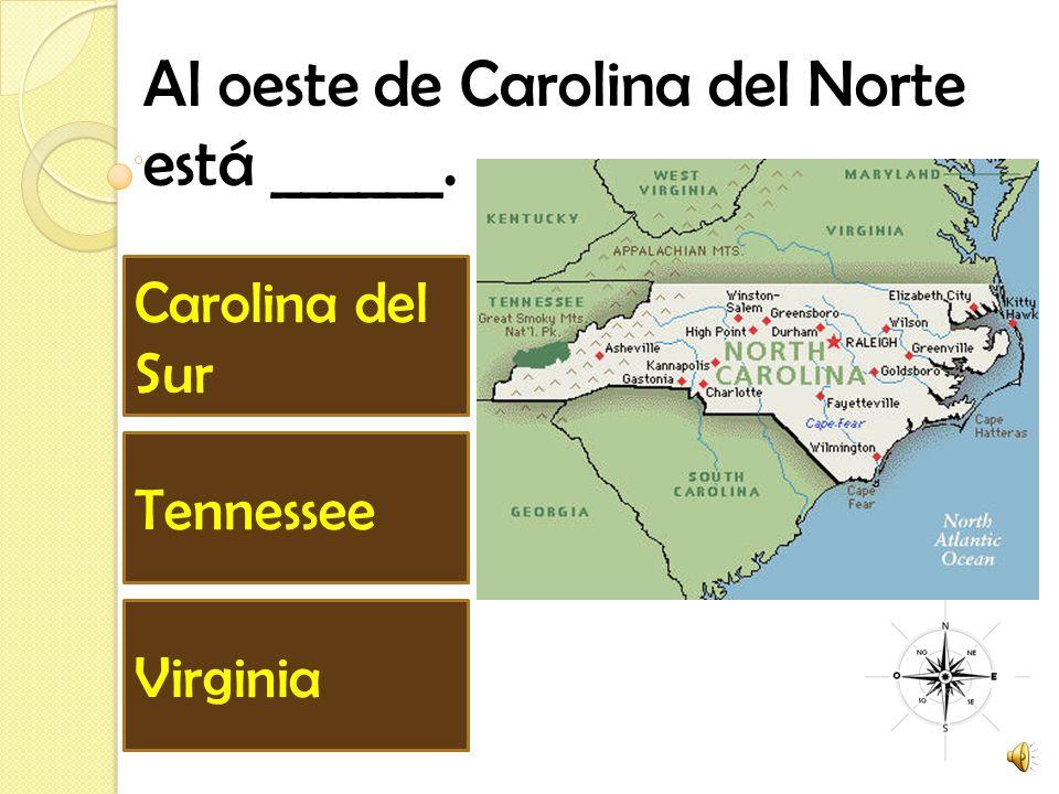 Al oeste de Carolina del Norte está ______.