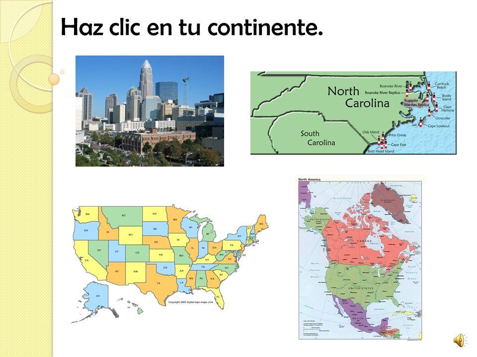 Haz clic en tu continente.