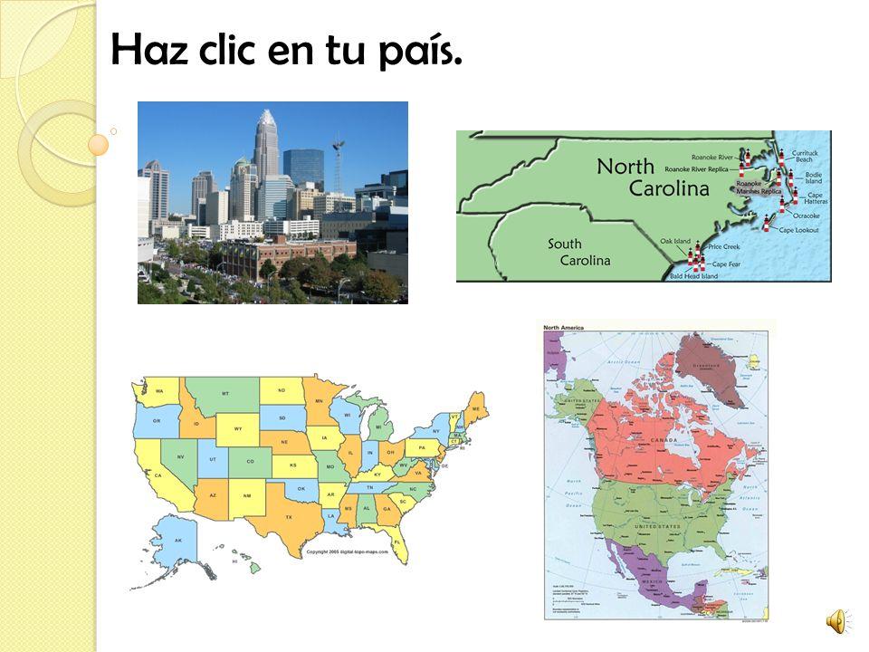 Haz clic en tu país.