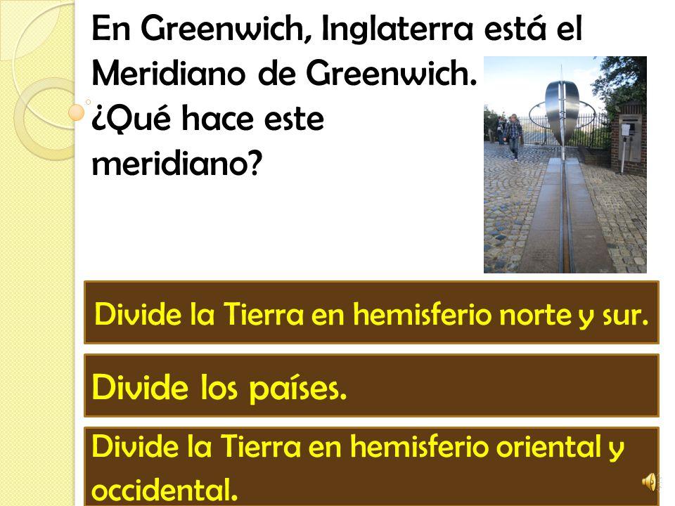 Divide la Tierra en hemisferio norte y sur.