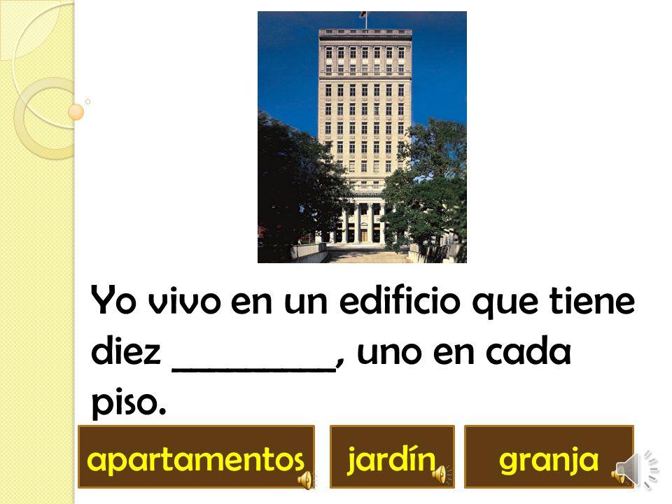Yo vivo en un edificio que tiene diez _________, uno en cada piso.