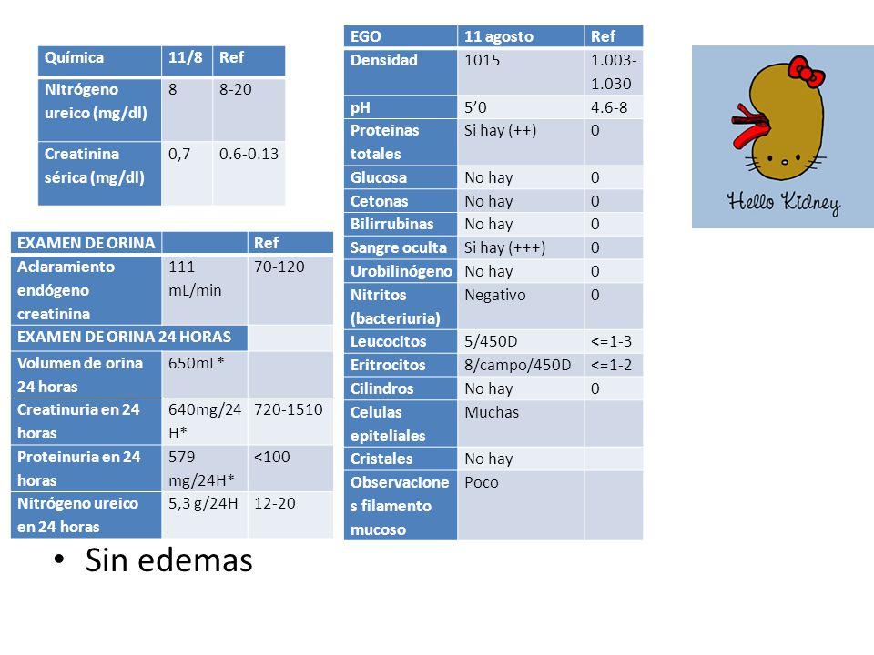 Sin edemas EGO 11 agosto Ref Densidad 1015 1.003-1.030 pH 5'0 4.6-8