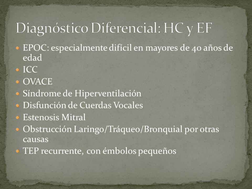 Diagnóstico Diferencial: HC y EF
