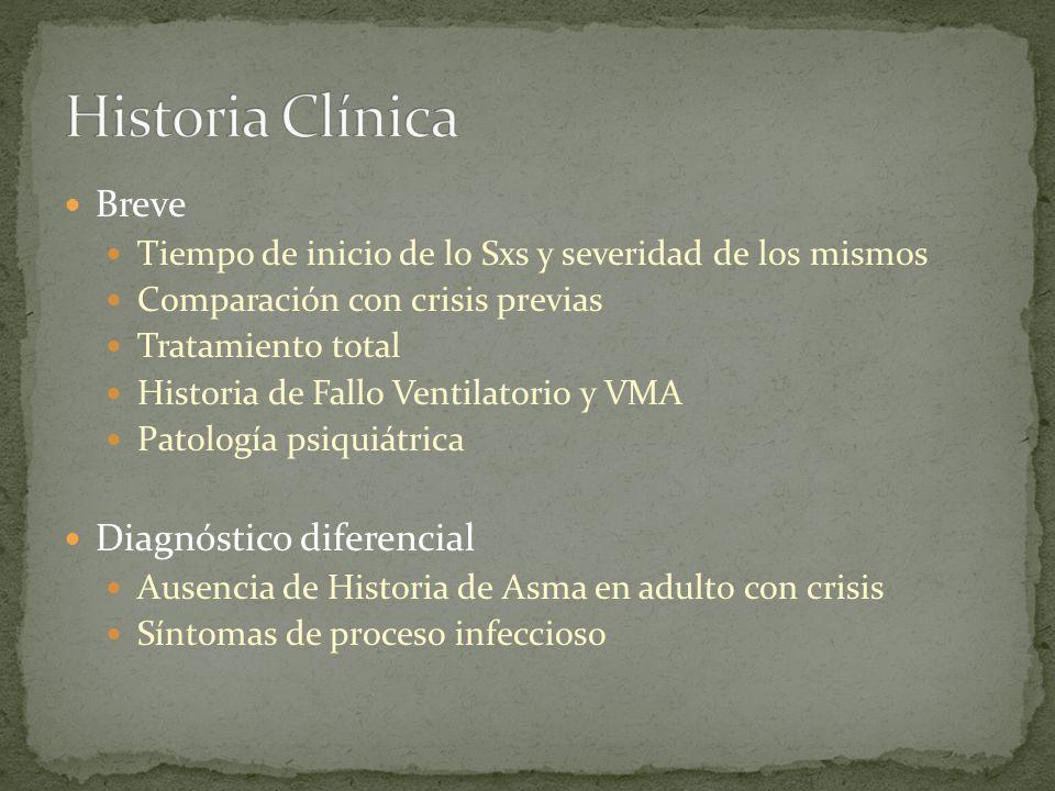 Historia Clínica Breve Diagnóstico diferencial