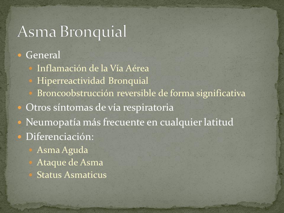 Asma Bronquial General Otros síntomas de vía respiratoria