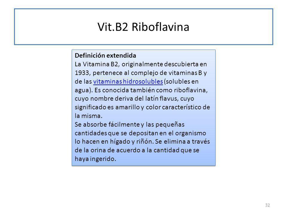 Vit.B2 Riboflavina
