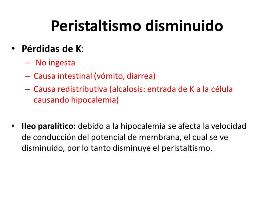 Peristaltismo disminuido