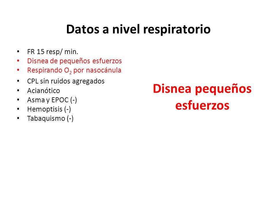 Datos a nivel respiratorio