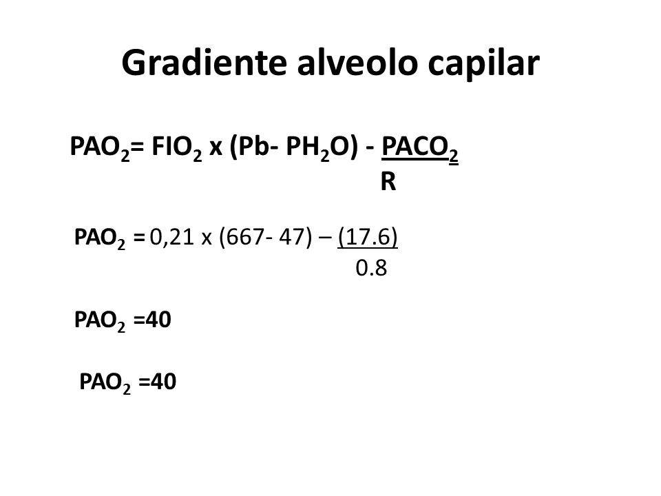 Gradiente alveolo capilar
