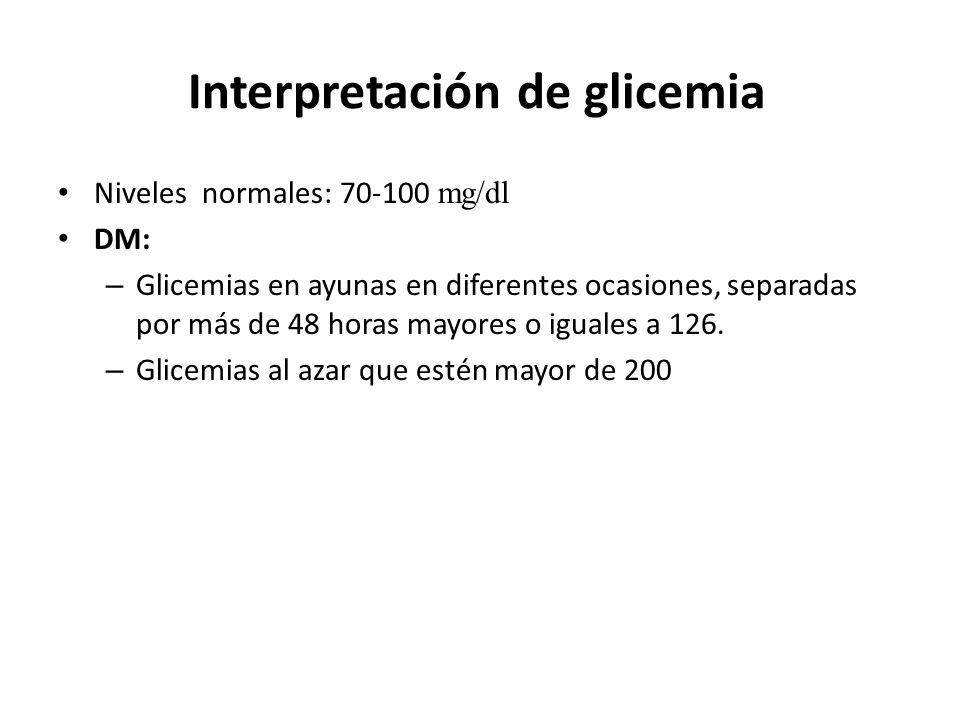 Interpretación de glicemia