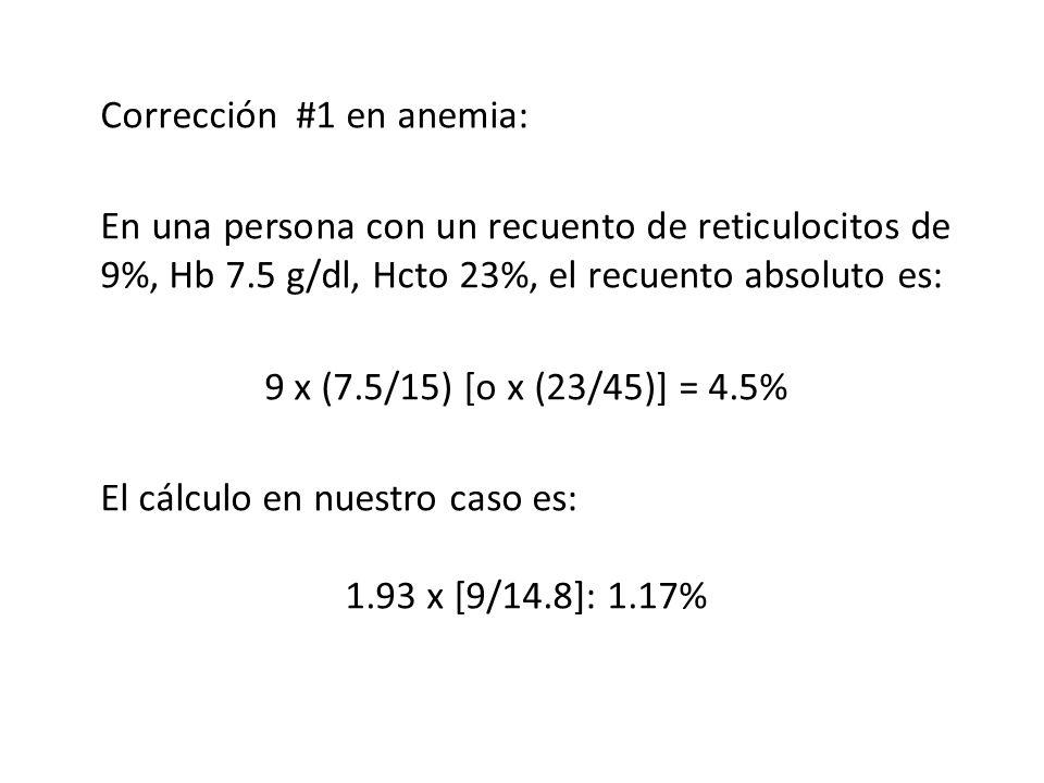 Corrección #1 en anemia: