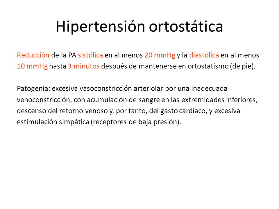 Hipertensión ortostática