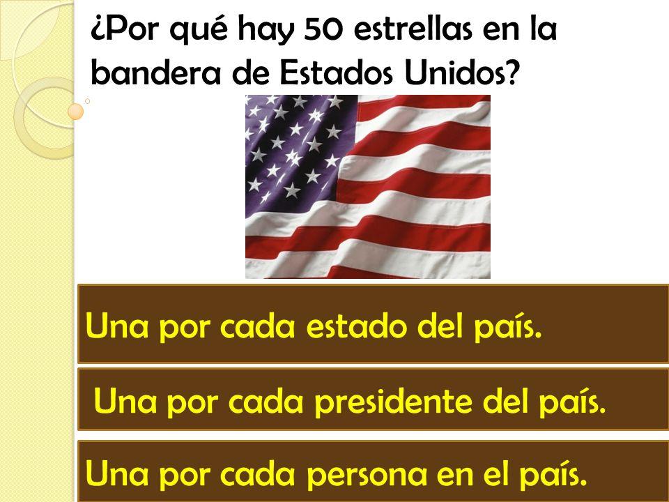 ¿Por qué hay 50 estrellas en la bandera de Estados Unidos