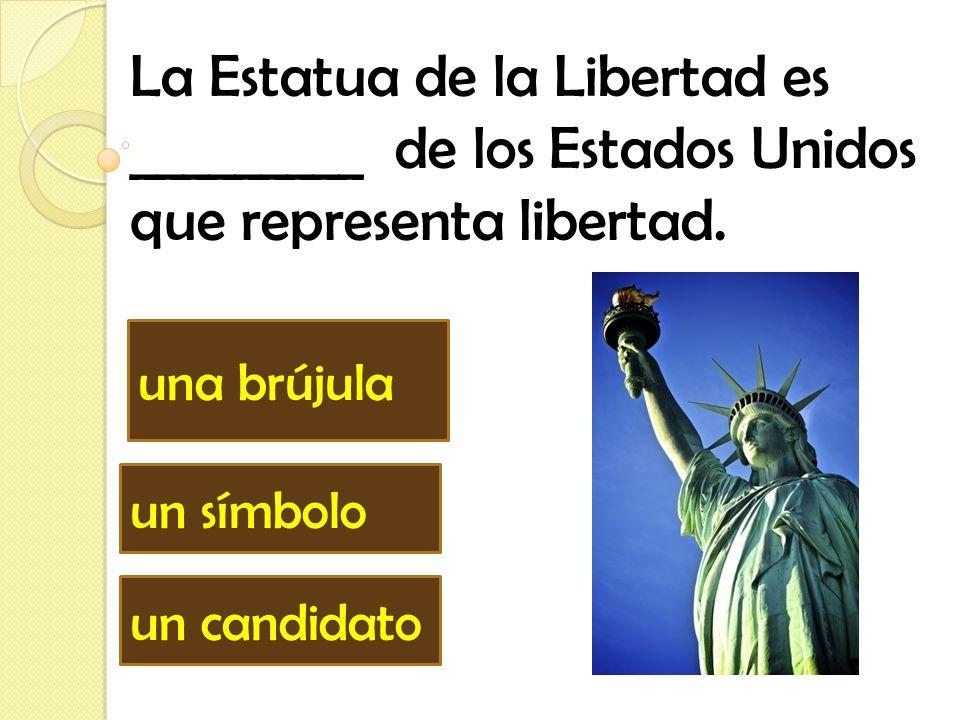 La Estatua de la Libertad es _________ de los Estados Unidos que representa libertad.