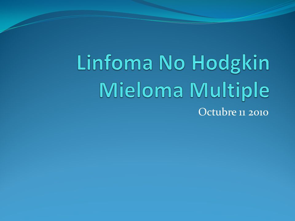 Linfoma No Hodgkin Mieloma Multiple