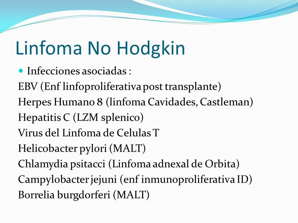 Linfoma No Hodgkin Infecciones asociadas :