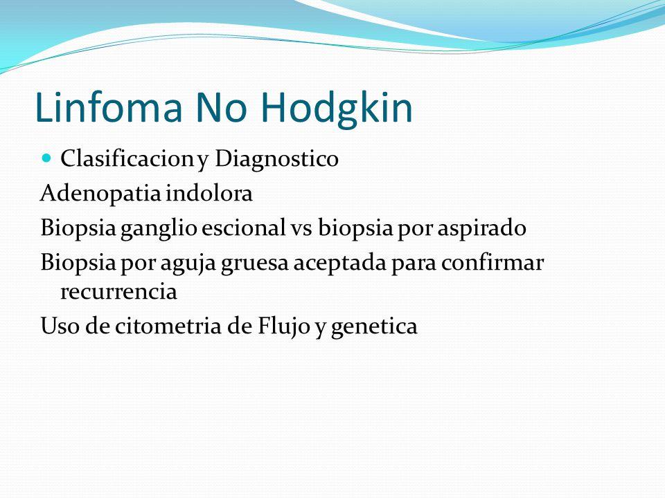 Linfoma No Hodgkin Clasificacion y Diagnostico Adenopatia indolora