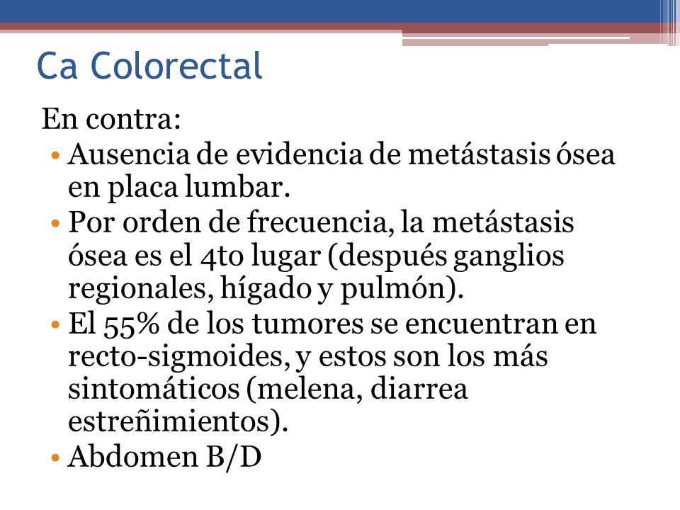 Ca Colorectal En contra: