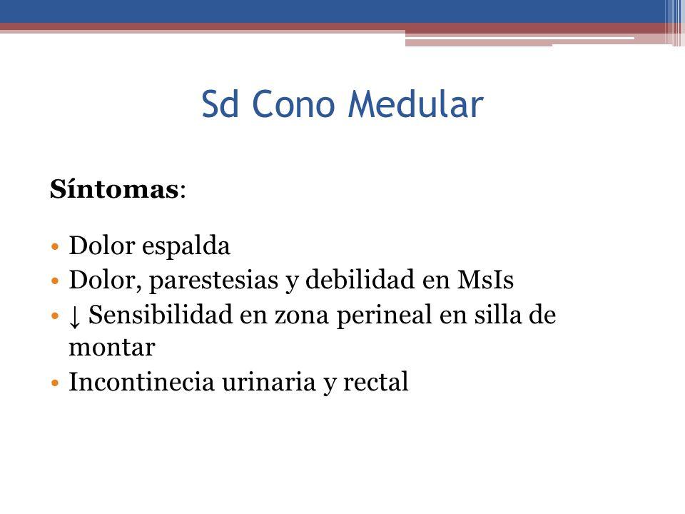 Sd Cono Medular Síntomas: Dolor espalda