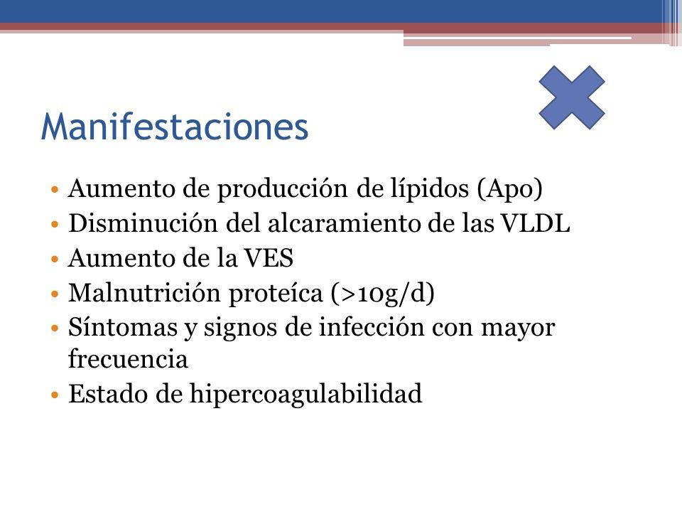 Manifestaciones Aumento de producción de lípidos (Apo)