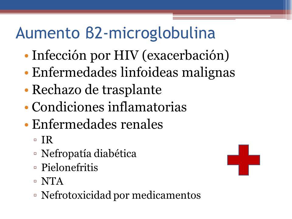 Aumento β2-microglobulina