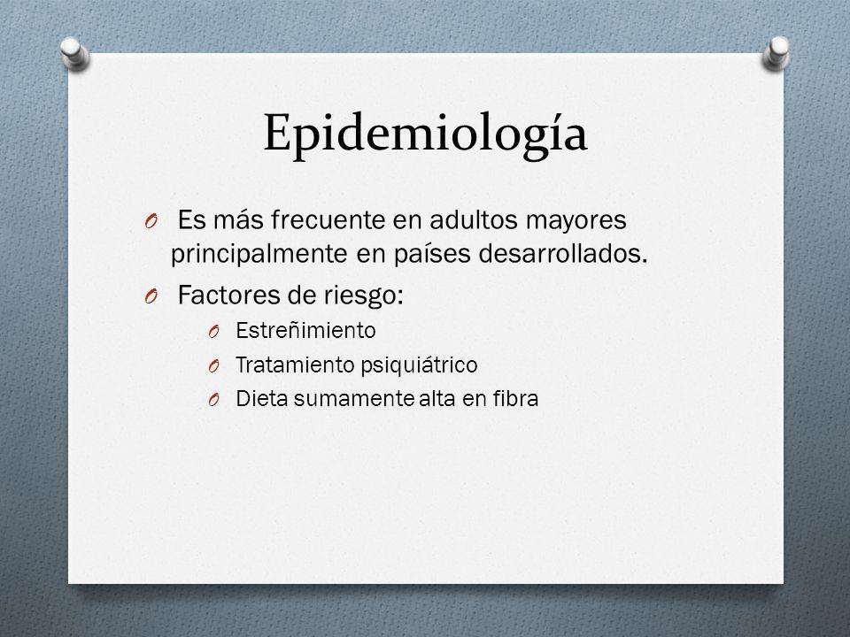 Epidemiología Es más frecuente en adultos mayores principalmente en países desarrollados. Factores de riesgo: