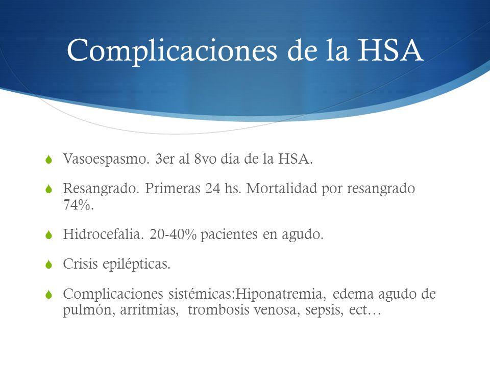 Complicaciones de la HSA