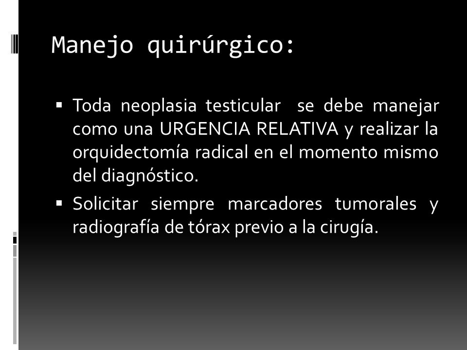 Manejo quirúrgico: