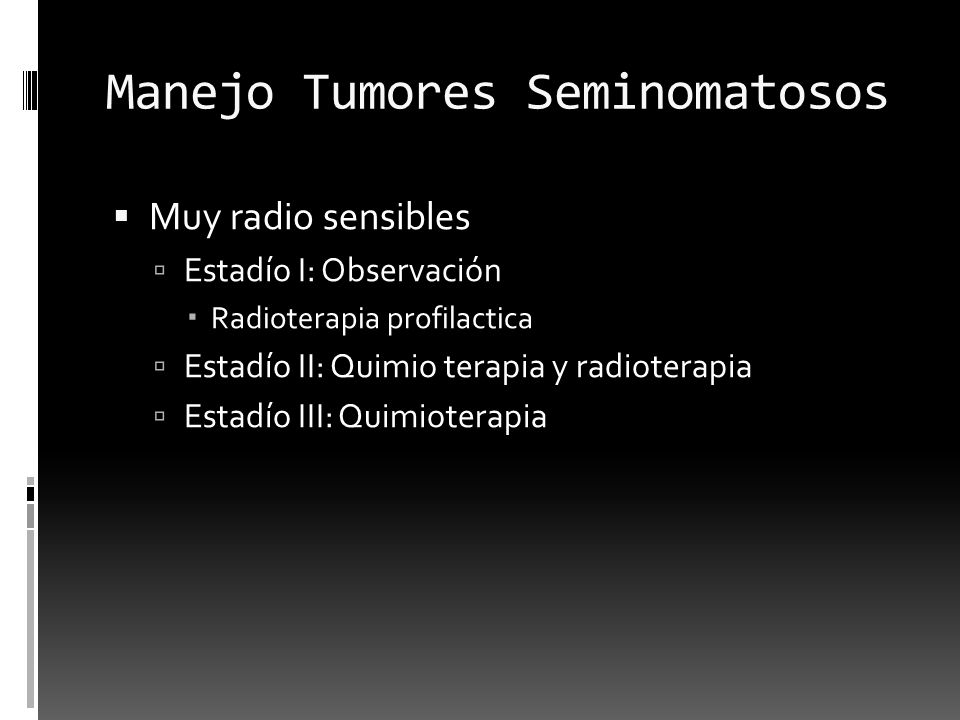 Manejo Tumores Seminomatosos
