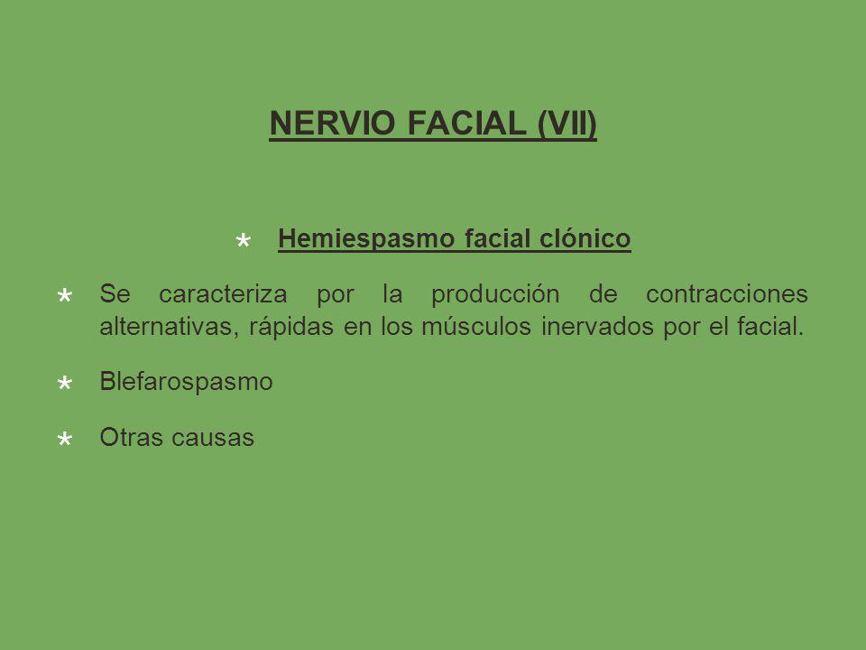 Hemiespasmo facial clónico