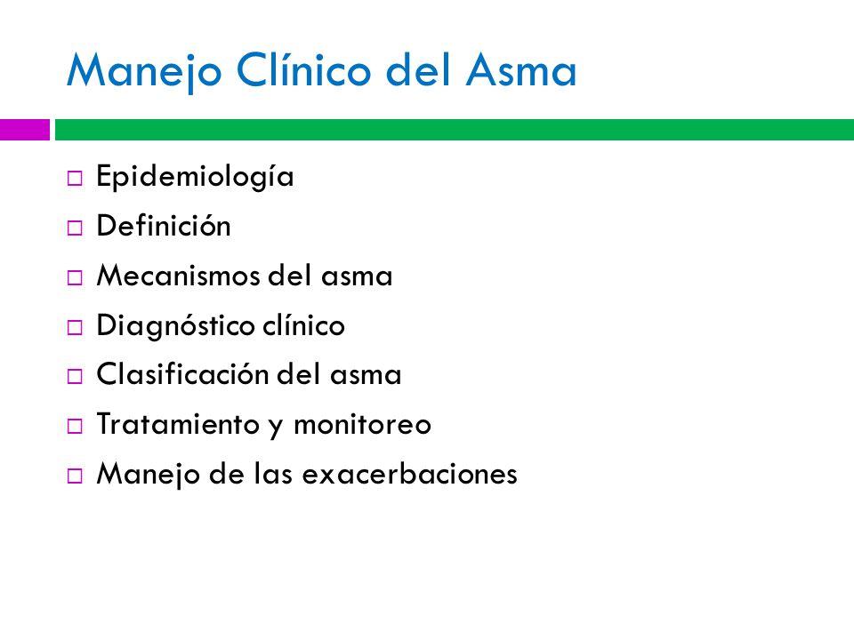 Manejo Clínico del Asma