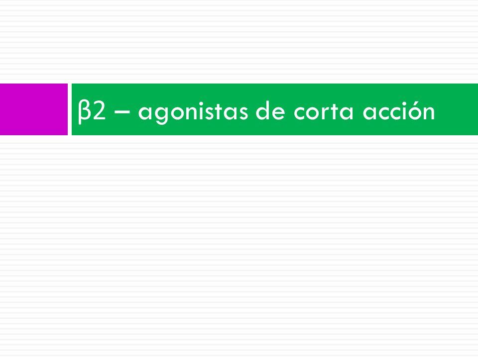 β2 – agonistas de corta acción