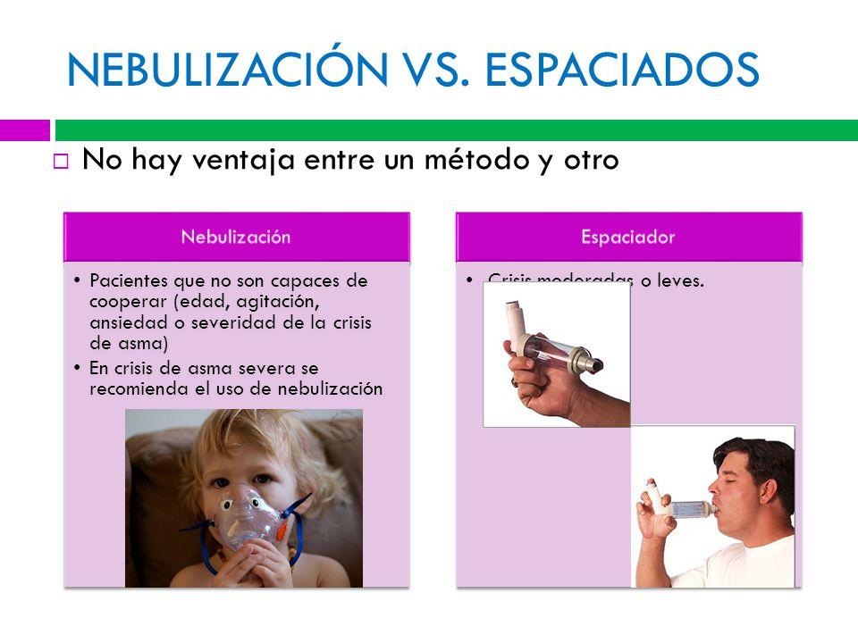 NEBULIZACIÓN VS. ESPACIADOS