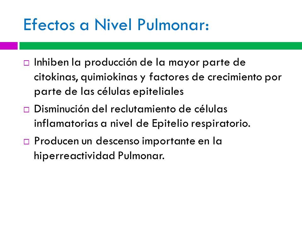 Efectos a Nivel Pulmonar: