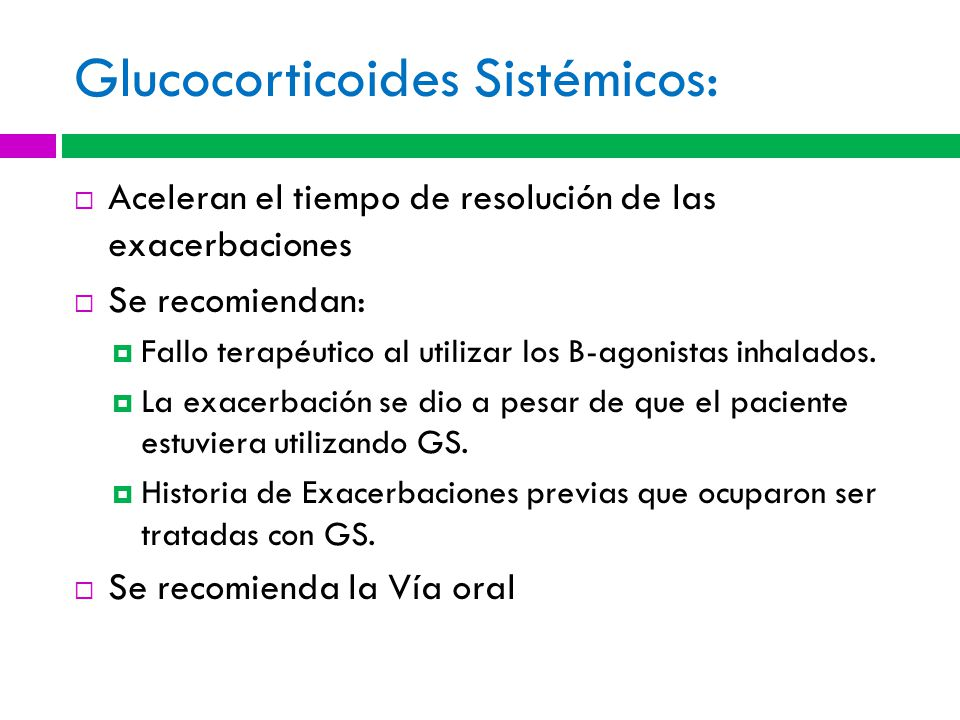 Glucocorticoides Sistémicos: