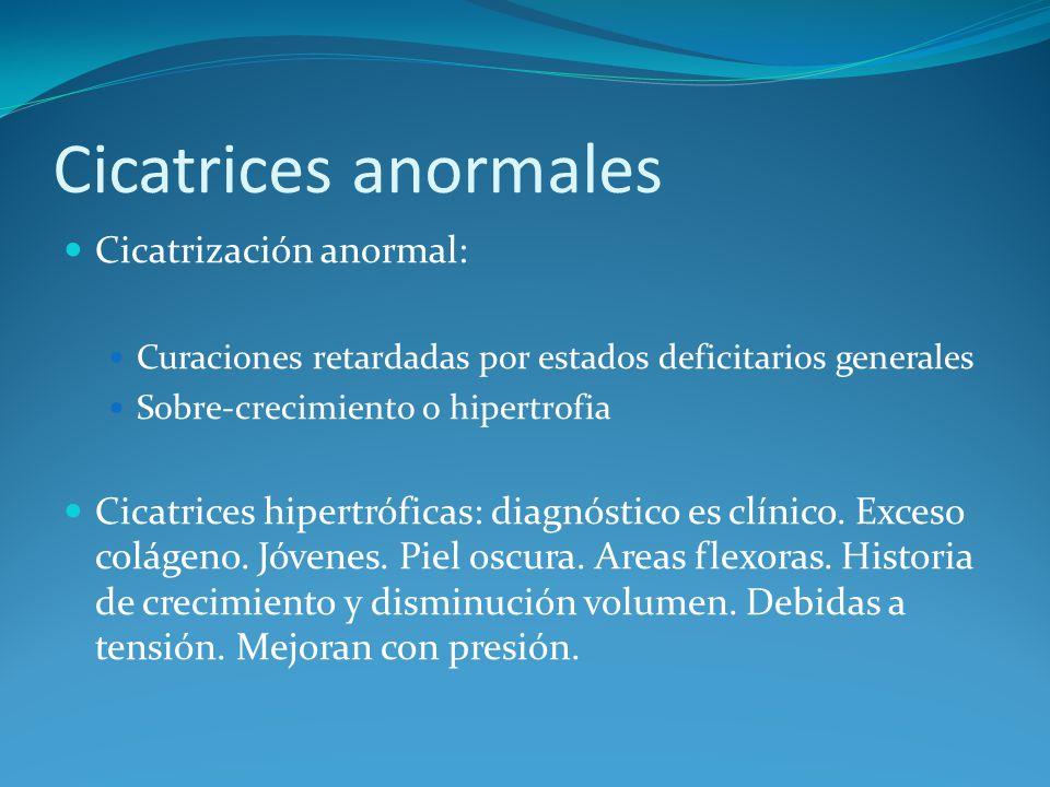 Cicatrices anormales Cicatrización anormal: