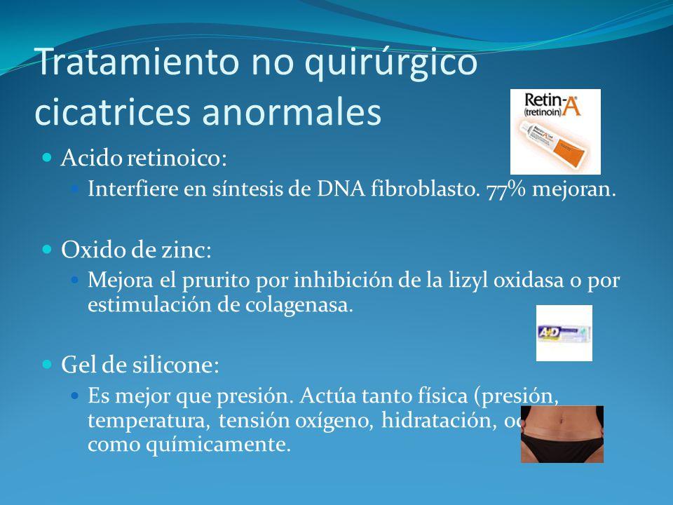 Tratamiento no quirúrgico cicatrices anormales
