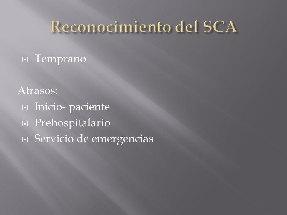 Reconocimiento del SCA