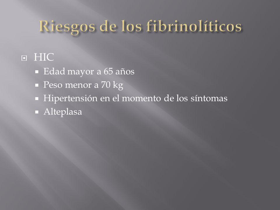 Riesgos de los fibrinolíticos