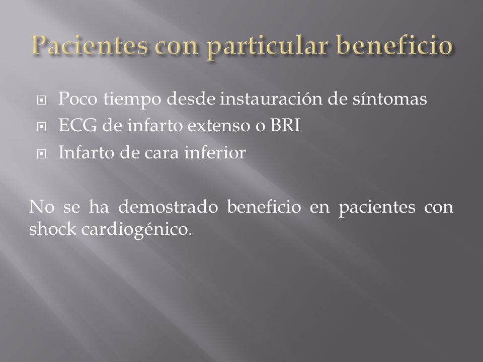 Pacientes con particular beneficio