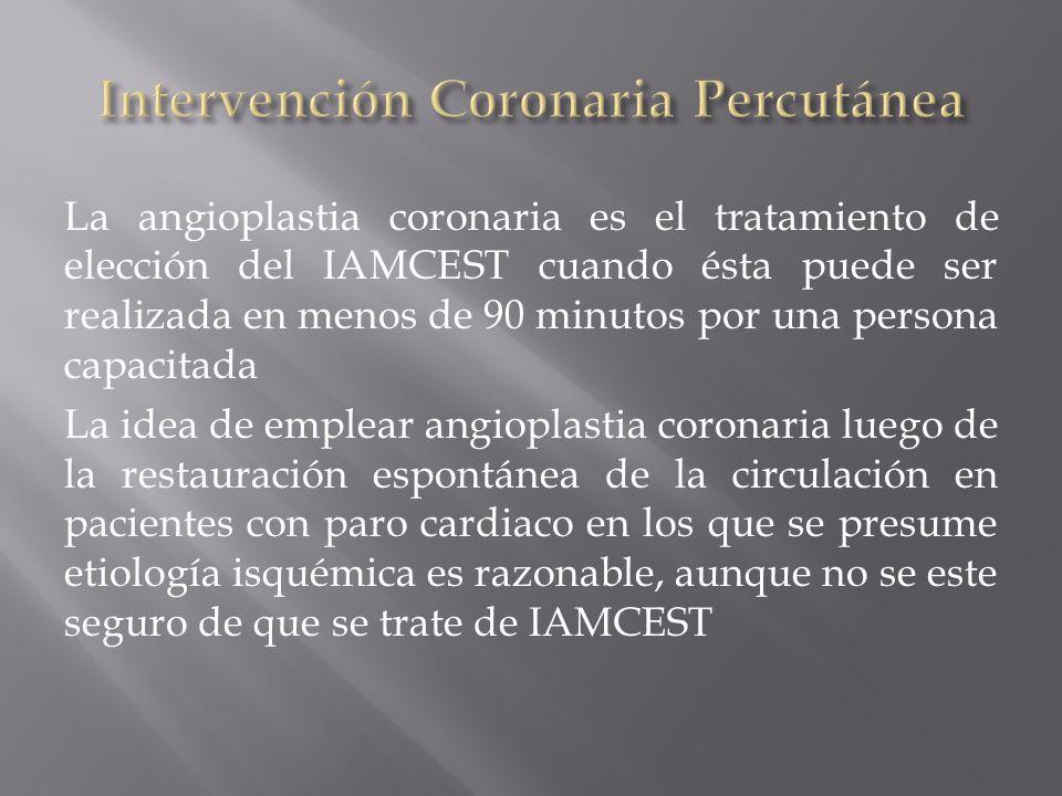 Intervención Coronaria Percutánea