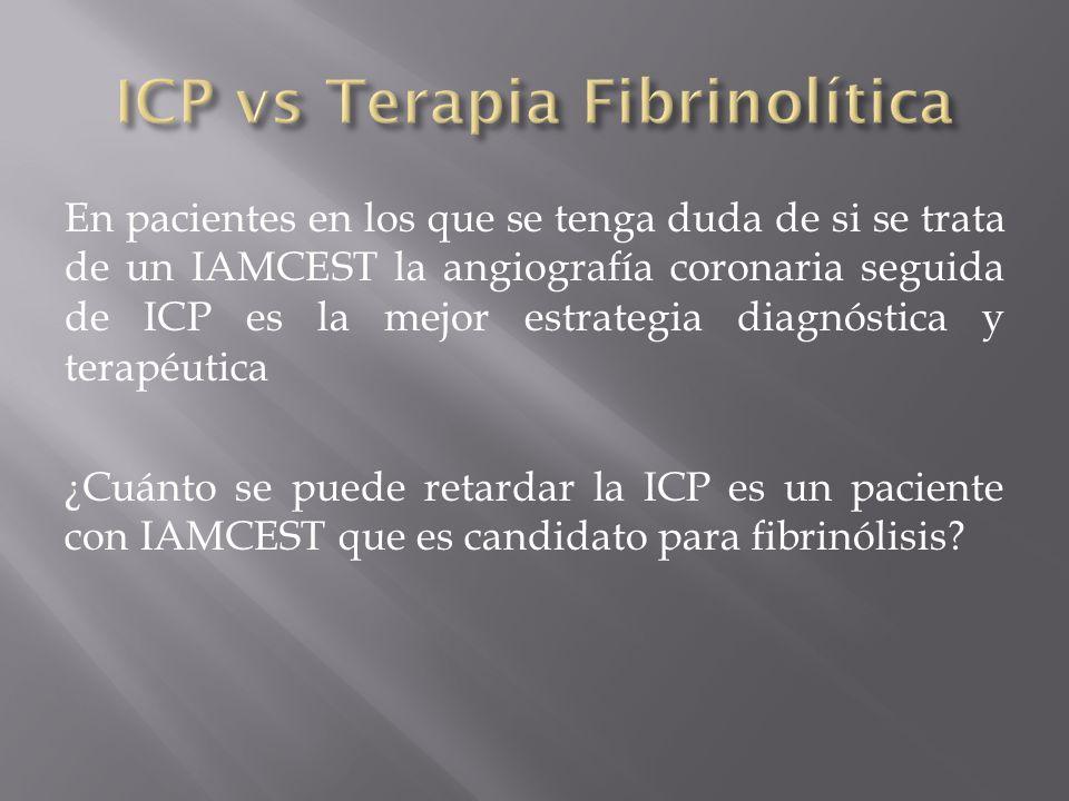 ICP vs Terapia Fibrinolítica