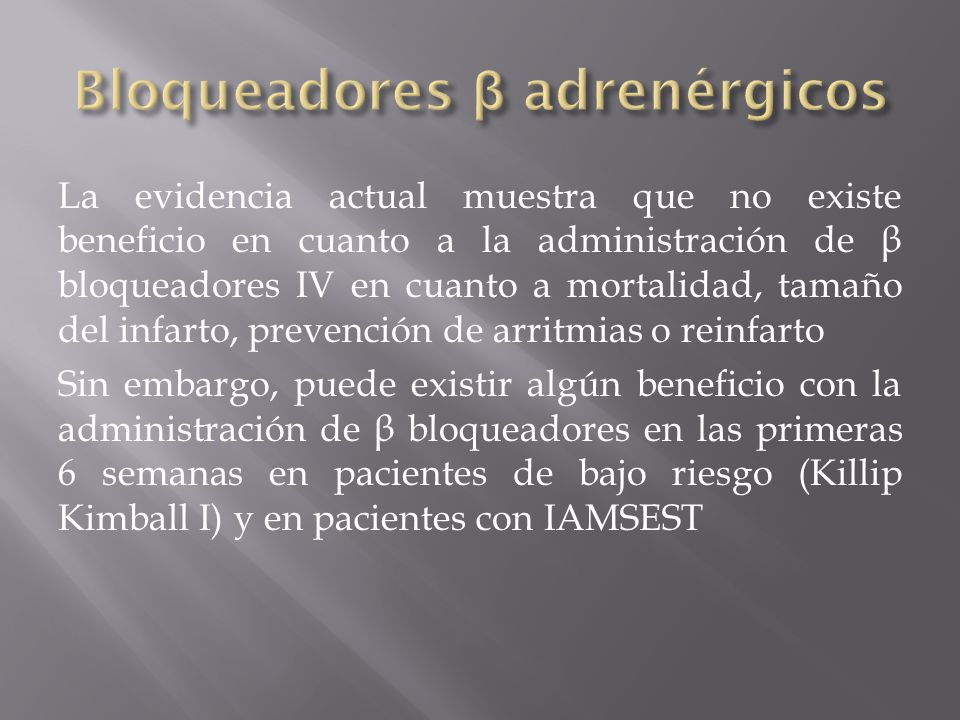 Bloqueadores β adrenérgicos