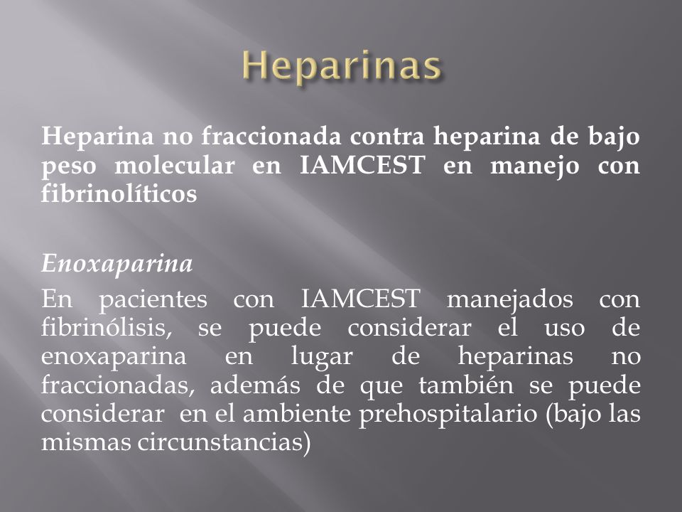 Heparinas