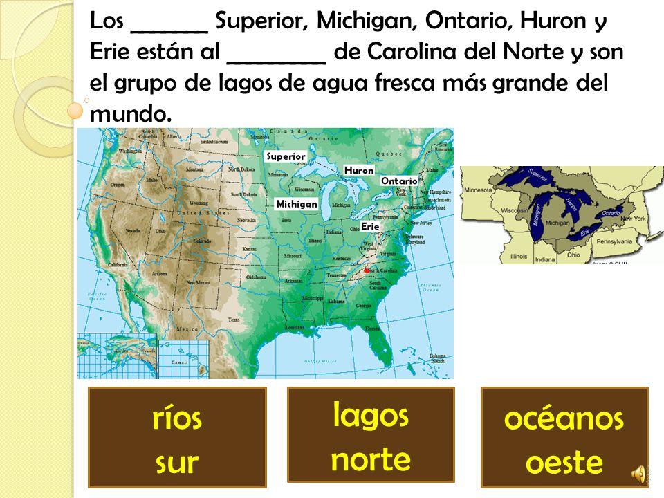 ríos sur lagos norte océanos oeste